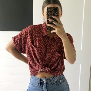 🌈NWT Lularoe Amy oversized button down S